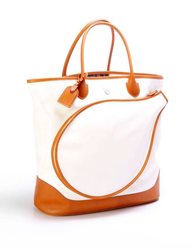 Anne-Marie Olson tennis handbag. I feel like the kind of person I am on the inside would know how to play tennis, and would have cute tennis accessories.