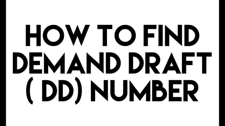 How to find DD Number in a Demand Draft (DD)