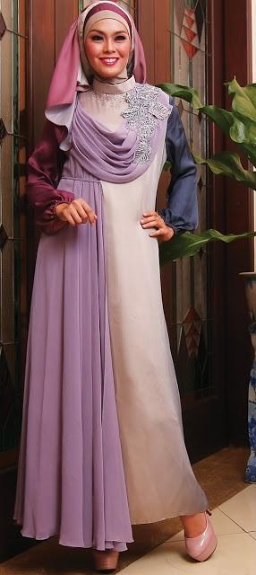 Drapery Ungu - Termasuk 1 inner,1 jilbab segi empat ceruty dan 1 pasmina silky. Dzakirah boutique - $165.00