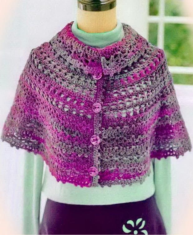 Crochet Shawls: Crochet Cape - Wonderful Women's Cape for Winter
