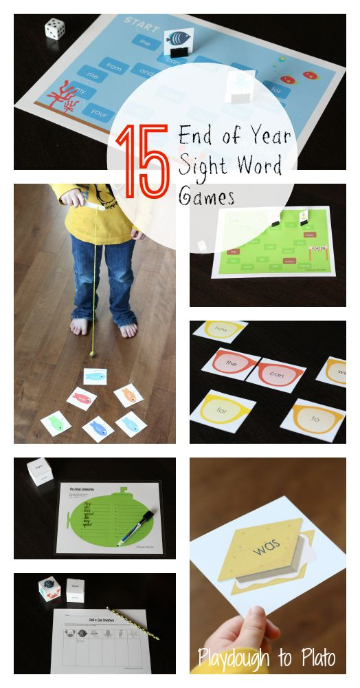Perfect for the end of the year! 15 creative, EDITABLE word games. {Playdough to Plato}