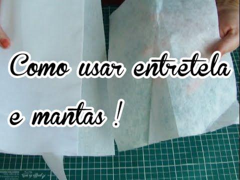 Dica de Costura - 5 maneiras de deixar seu tecido mais estruturado ! - Manta Acrílica R2 (manta resinada), Nylon Acoplado, Forrobel (feltro grosso)