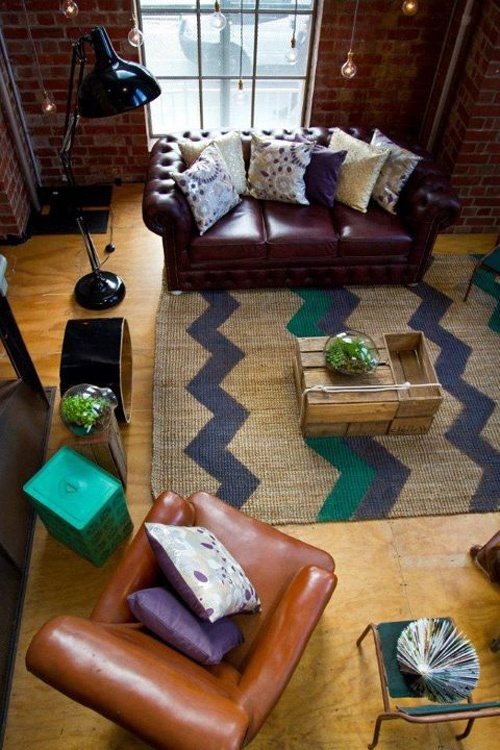 "Cocktail Hour - styled after a New York ""#loft #tijolo #face a #vista #avista #tijolinhos #briques #bricks #facingbrick #facing #brick #klinker #brick"