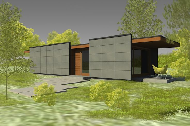 It 39 s possible to add a little frank lloyd wright to your for Frank lloyd wright modular homes