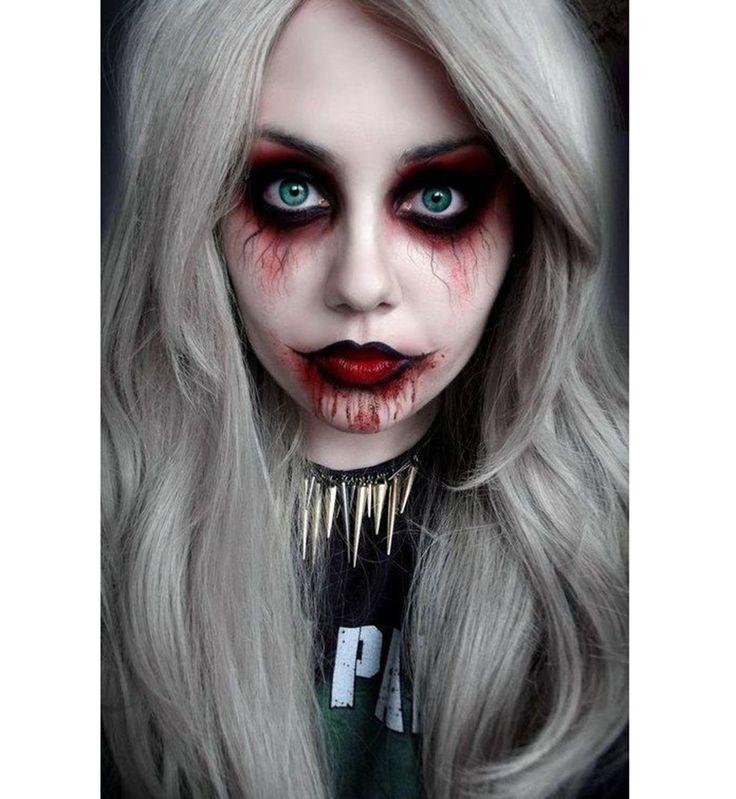 Les 25 meilleures id es de la cat gorie maquillage halloween femme sur pinterest costume femme - Maquillage vampire halloween ...