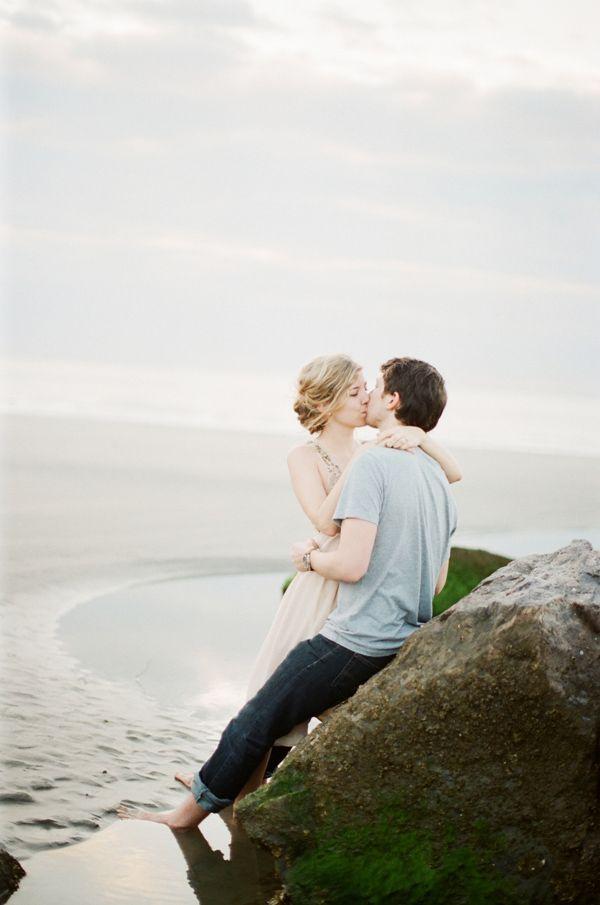 seaside engagement session