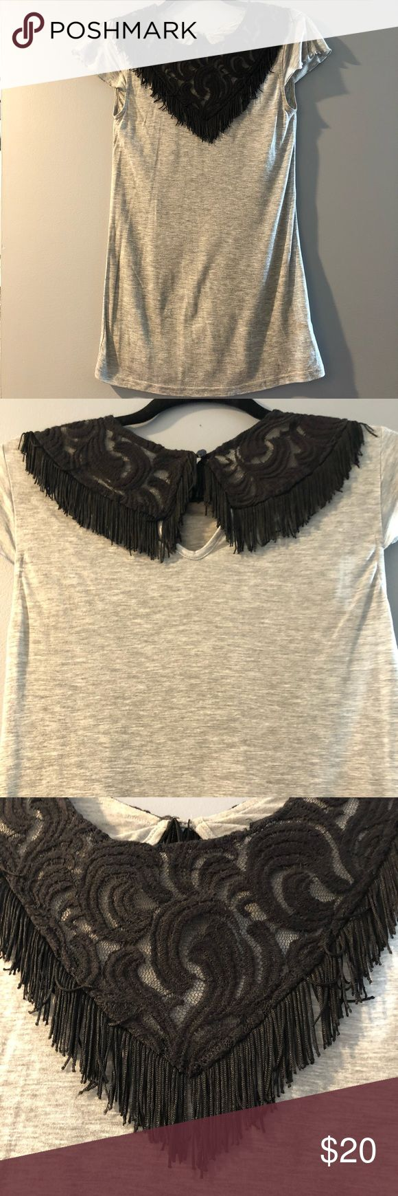 Anna Sui Embroidered Fringe Tee - Size XS Anna Sui for Target Embroidered Fringe Tee - Size XS. Very cool little tee with a fully embroidered neck with fringe. 100% Tencel. Anna Sui Tops Tees - Short Sleeve
