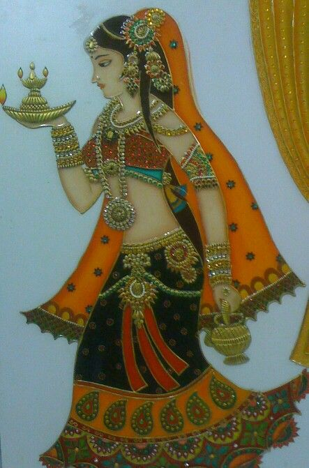 One of my meenakari paintings.