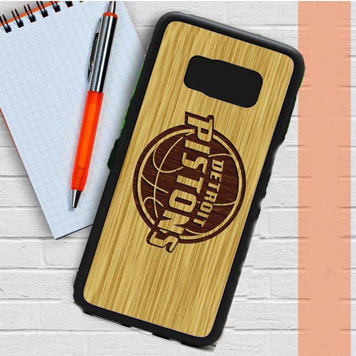 Detroit Pistons Wood Samsung Galaxy S8 Case Dewantary