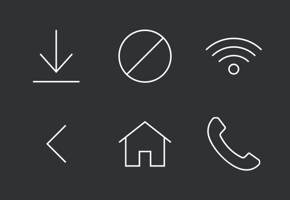 Modern UI Vector Icon Set 1 of 3 (25 icons) for Sale