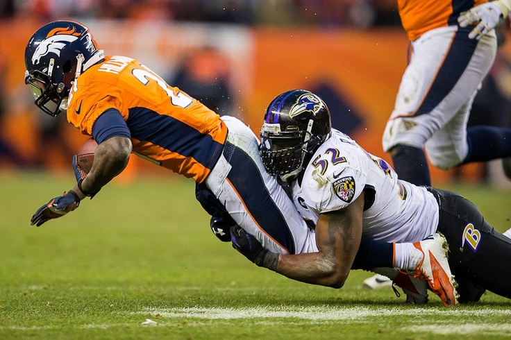 Broncos vs Ravens 2012 Playoffs, Ray Lewis tackle BEST GAME