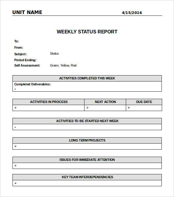 Word Document Report Templates (1