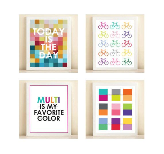 : Fav Colors, Prints Posters, Colors Collection, Colors Cards, Multi Colors, Favorite Colors, Multi Collection, Etsy Prints, Colors Prints