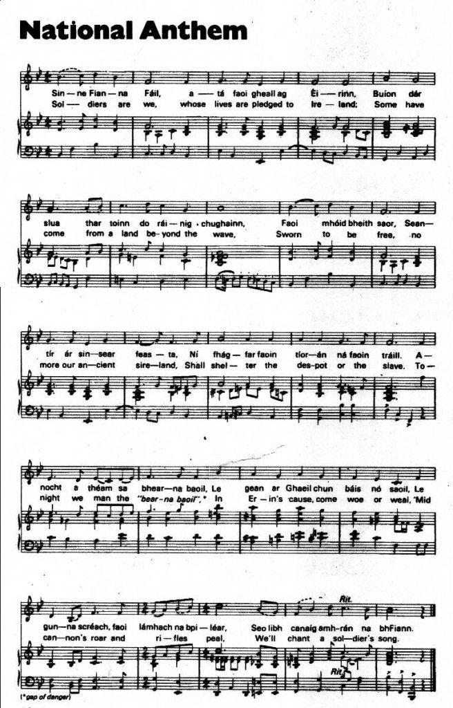 The Origin of the Irish National Anthem