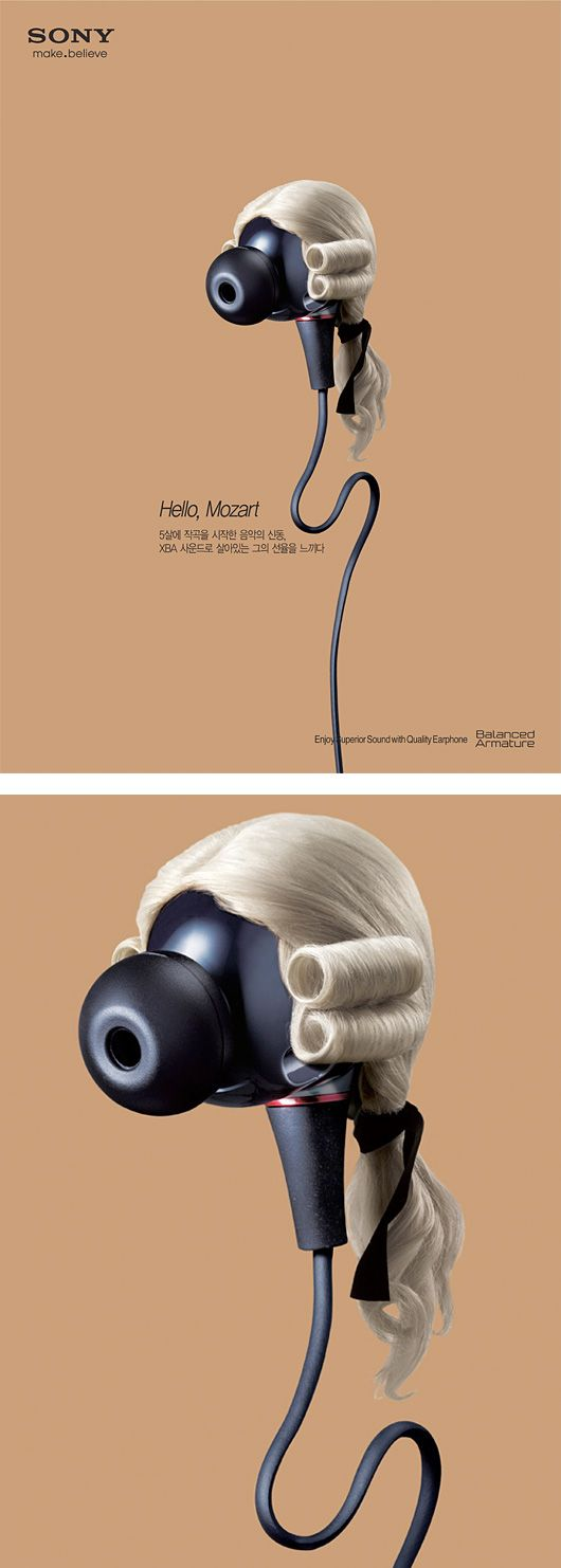 Music Icons Campaign for Sony Earphones | Inspiration Grid | Design Inspiration