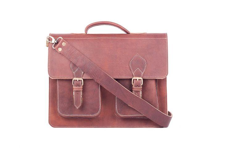 Aktentasche Leder Tasche Umhängetasche Echtleder von ledertaschen-lederwaren auf DaWanda.com