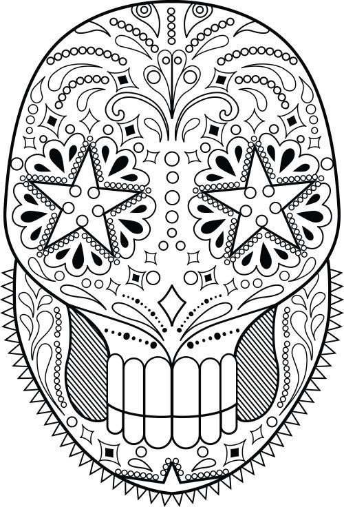 sugar skull designs coloring pages - photo#38