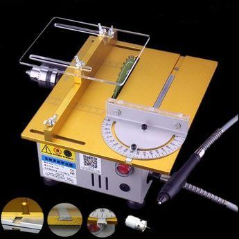 DC 12-24V T5 Miniature Precision Table Saws DIY Woodworking Cutting Machine Sale - Banggood Mobile