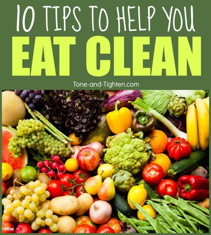 tips advice how to eat clean better healthier