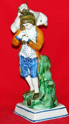 "Antique English Creamware Staffordshire Figure of ""The Lost Sheep"" Ralph Wood"