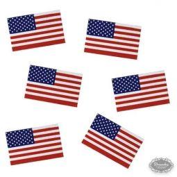US Strø flag. 50 stk - Amerikansk US tema borddækning - amerikansk flag paptallerken, papkrus, servietter med det amerikanske flag - 4th of july fest bordpynt