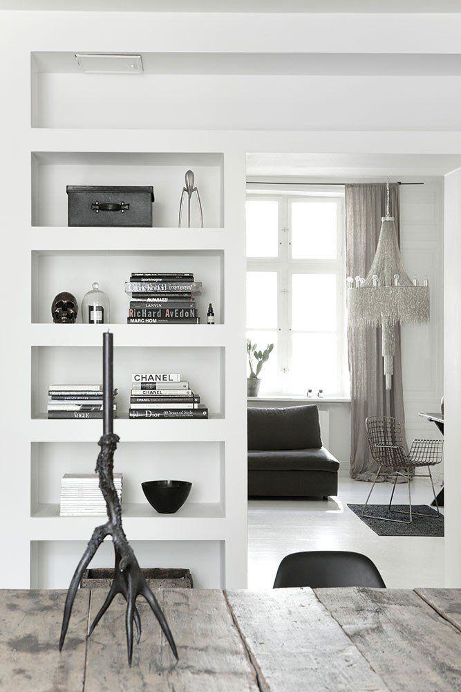Doorway with bookshelf