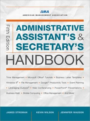 From managing the phones, coordinating meetings, and preparing presentations to planning events, crafting clear business communications, and deciphering legal documents, administrative assistants need to be everything to everyone, all the time. Long the gold standard for office professionals seeking to improve their performance and enhance their value to employers, this comprehensive guidebook is the definitive source of information.