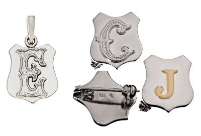 Badge or Pendant - MY SHIELD -  Sterling Silver or 9ct Gold