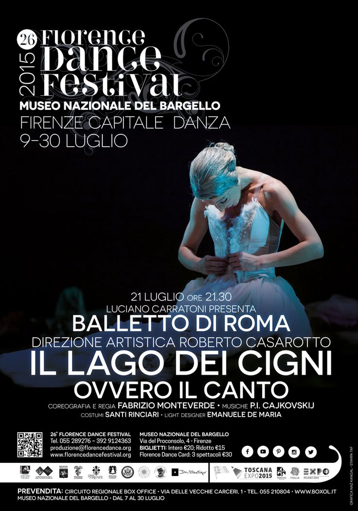 21 Luglio ore 21.30 Museo Nazionale del Bargello Balletto di Roma Il lago dei cigni  - ovvero il canto