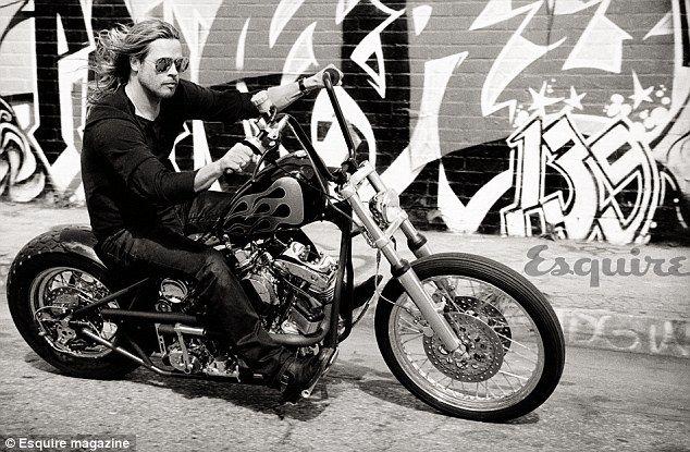 Brad. On a bike.