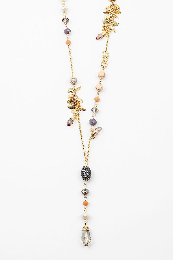 Crystal Reese Necklace in Ivory Agate on Emma Stine Limited
