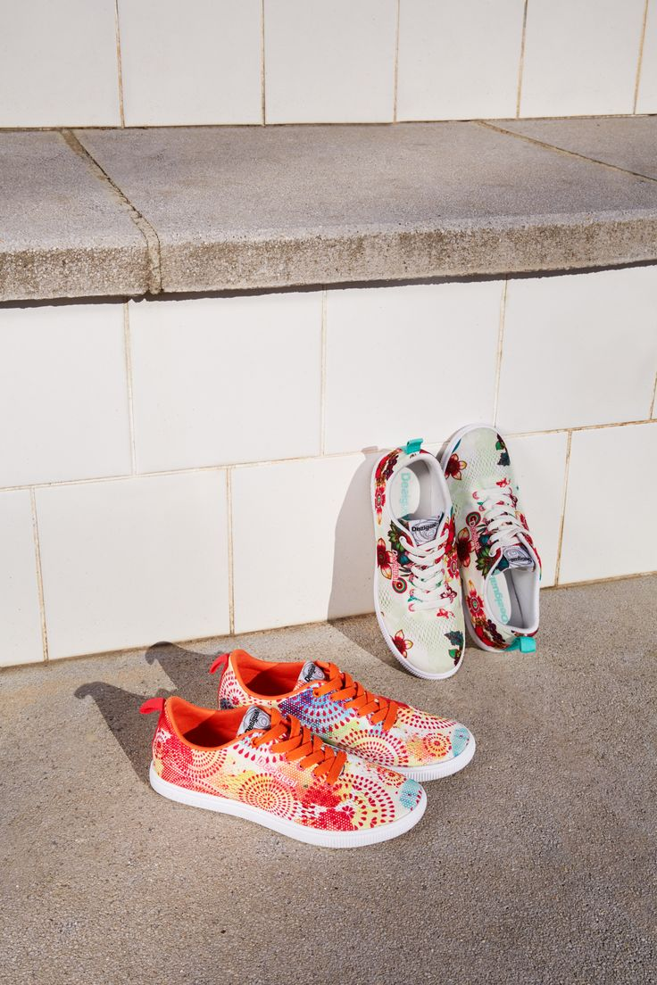 These mesh floral sneakers allow for maximum ventilation and style!