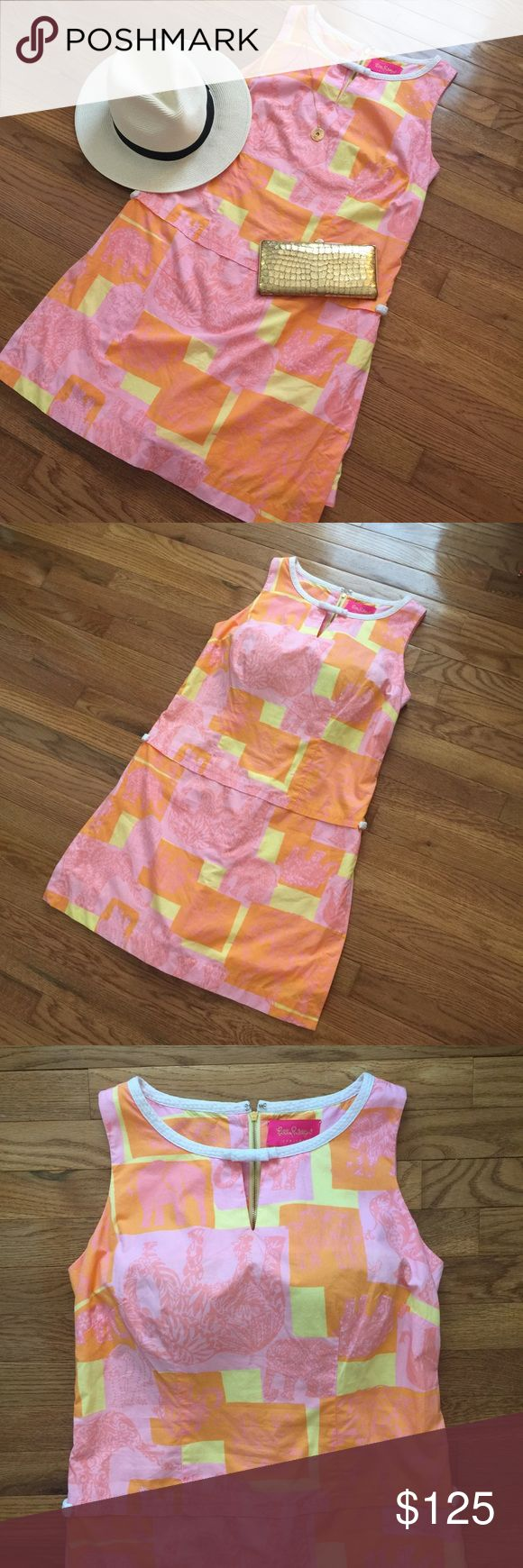 Lilly Pulitzer Jubilee pink dress skort dress Lilly Pulitzer Jubilee pink dress skort dress, it has shorts underneath. Size 10 in great condition only worn a couple times. Pink, yellow, orange colors. Very light and comfy, perfect for this Summer. Open to offers! Check out my closet for more Lilly, Tory Burch items, etc! This listing is for the dress only. Lilly Pulitzer Dresses