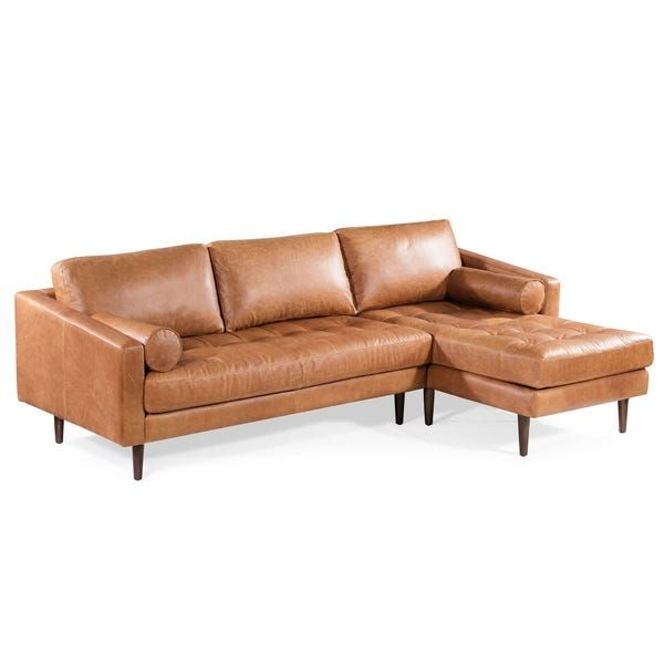 Strick Bolton Landreth Right Sectional Sofa In 2020 Leather Sectional Sofas Leather Sectional Tan Leather Sectional