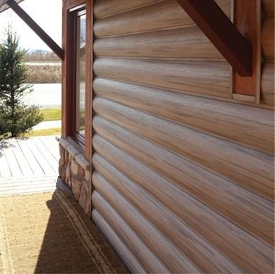 25 best log siding ideas on pinterest log cabin siding for Faux wood vinyl siding