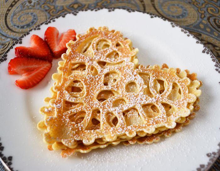 Heart Shaped Food Day 11: Lace Heart Crepes