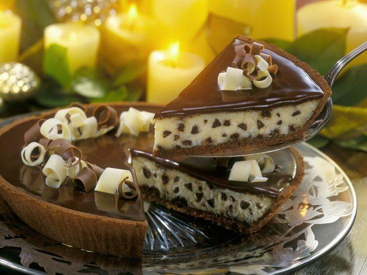 Čokoládovo  tvarohová  krémová  torta