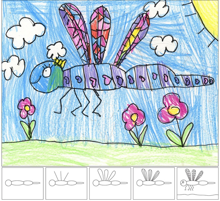 Art Projects for Kids: How to Draw a Dragonfly