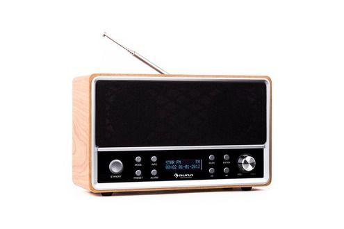 Radio-réveil Auna Charleston Radio numérique portable tuner DAB+ FM & RDS réveil