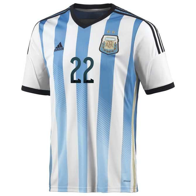 Authentic Argentina (22 Lavezzi) 2014 World Cup home soccer jersey Adidas  from china 1874. Soccer UniformsSoccer JerseysFootball ShirtsMessi ...