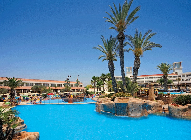 Huge pool at Olympic Hotel in Ayia Napa, Cyprus