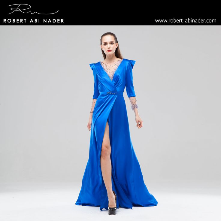 Robert Abi Nader - Ready to Wear - Spring Summer 2015 #robertabinader #blue #fashion #lebanon #style #model #heels #fashionista #paris #london #girls #design #attitude #stylish #love #TagsForLikes #todayimwearing #instastyle