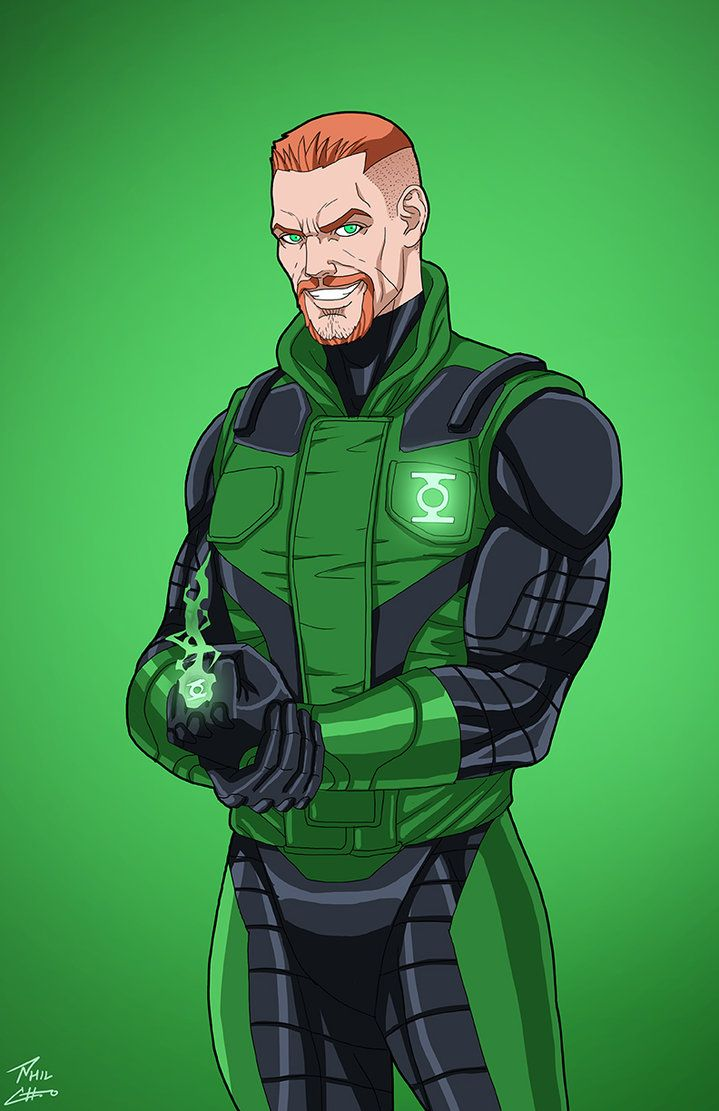 Green Lantern [Guy Gardner] (Earth-27) commission by phil-cho.deviantart.com on @DeviantArt