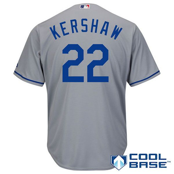 Clayton Kershaw Los Angeles Dodgers Majestic Cool Base Player Jersey - Gray - $119.99