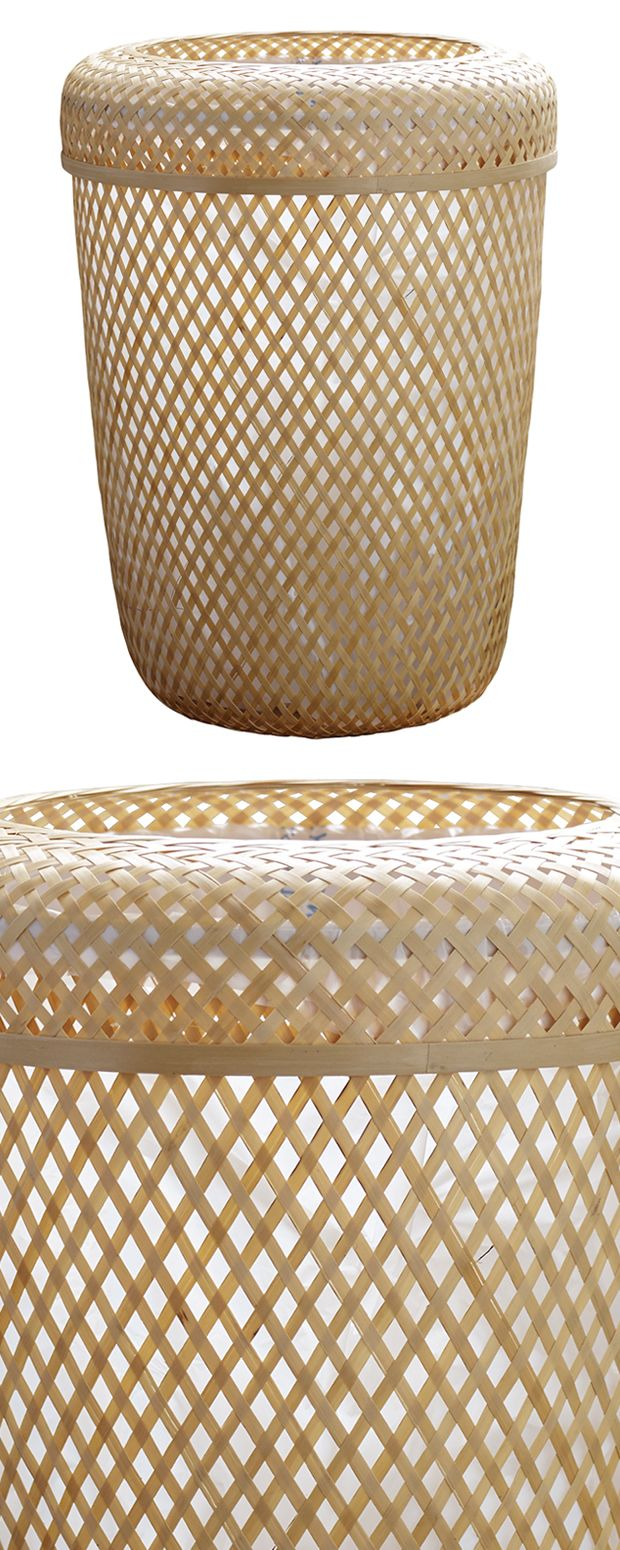 The Rhys Lidded Waste Can is far from rubbish. Beautifully woven from Bambusa bamboo, this traditionally inspired design is a perfect pick for a bohemian-themed or chic, transitional living space. Its ...  Find the Rhys Lidded Waste Can, as seen in the New Arrivals Collection at http://dotandbo.com/collections/new-arrivals-7-slash-5?utm_source=pinterest&utm_medium=organic&db_sku=127246