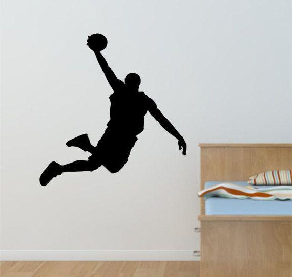 Basket Ball Decal, Wall Decal, Basketball , Sport Decal, Basketball Sticker, basketball Wall Sticker, Basketball Player, GYM, NBA  (#SPBB2)