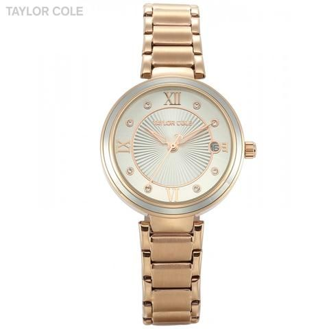 Taylor Cole Rose Gold Gift Box Watch