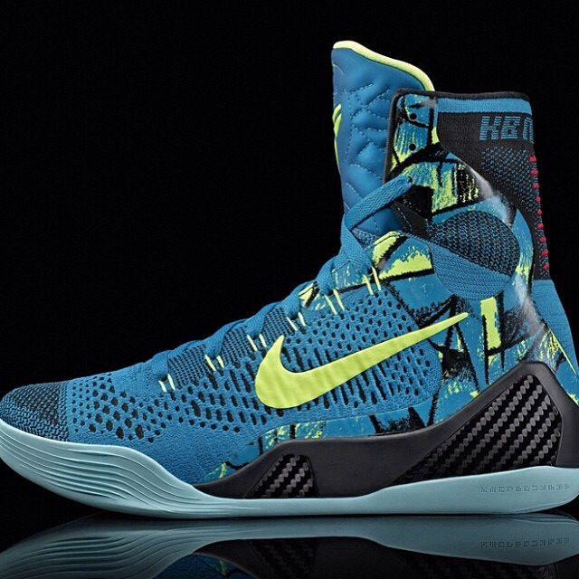 Blue and neon pair of Kobe 9