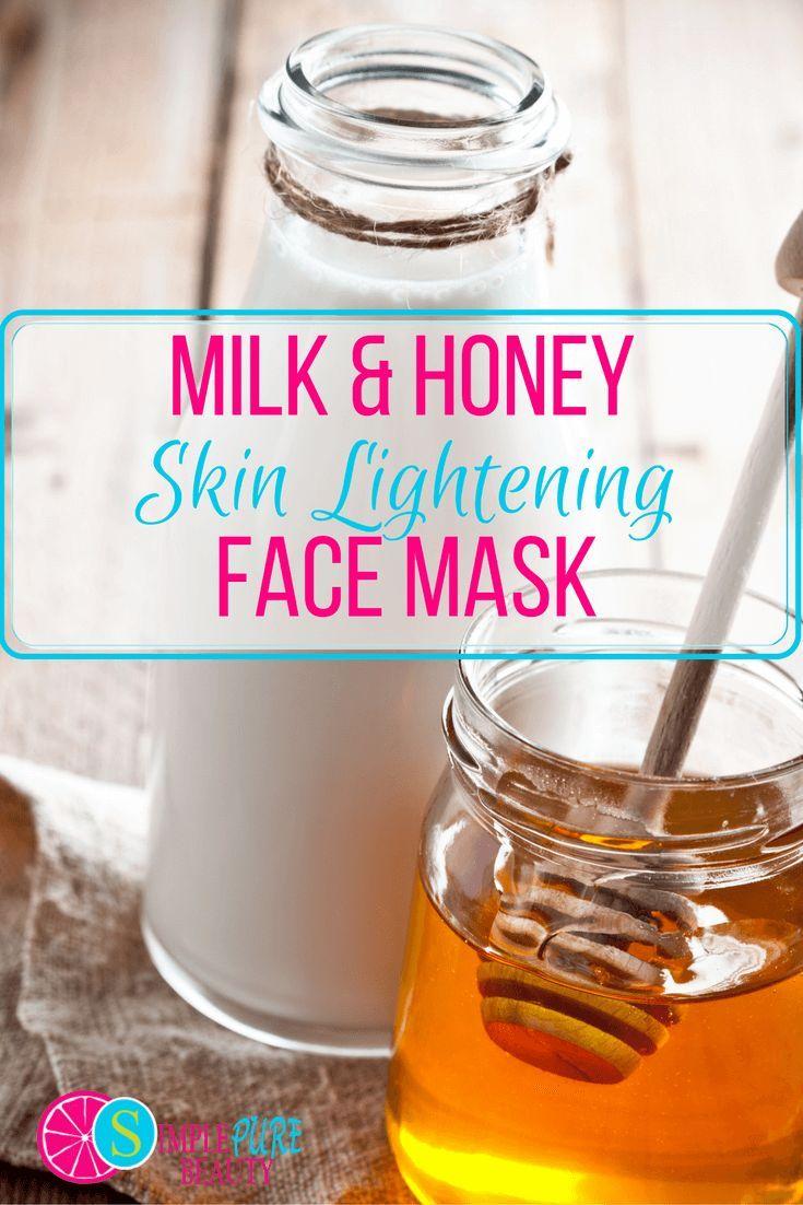 Milk & Honey Skin Lightening Face Mask, lightening face mask, diy face mask homemade face mask acne, honey face mask, milk and honey face mask