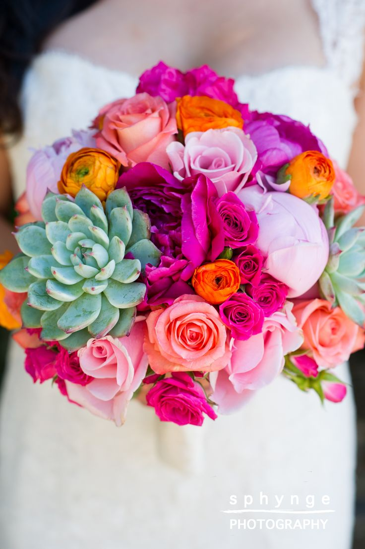 -colors and flowers in bouqet, not the green one- Wedding in Tropical Paradise, Camarillo, California | Sphynge ...